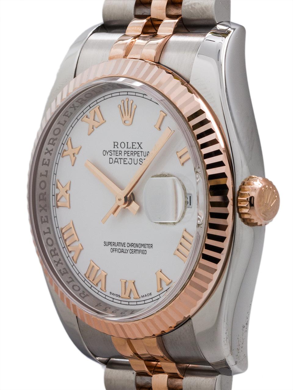 Rolex Man's Datejust ref# 116231 SS/PG circa 2005