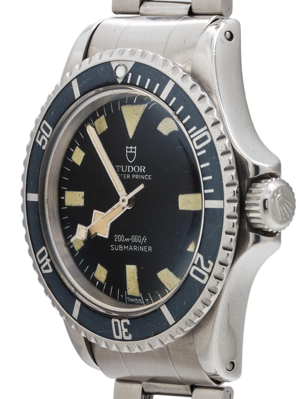 "Tudor ""Snowflake"" Submariner ref# 7016/0 circa 1974"