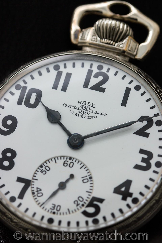 Ball Official Standard Railroad Pocketwatch circa 1918