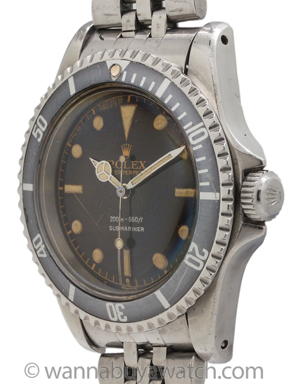 Rolex Submariner ref 5513 PCG Gilt Minute Track Tropical 1962 Exceptional!