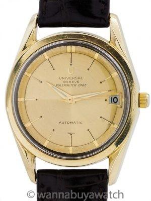 Universal Geneve Polerouter De Luxe Chronometer circa 1960's
