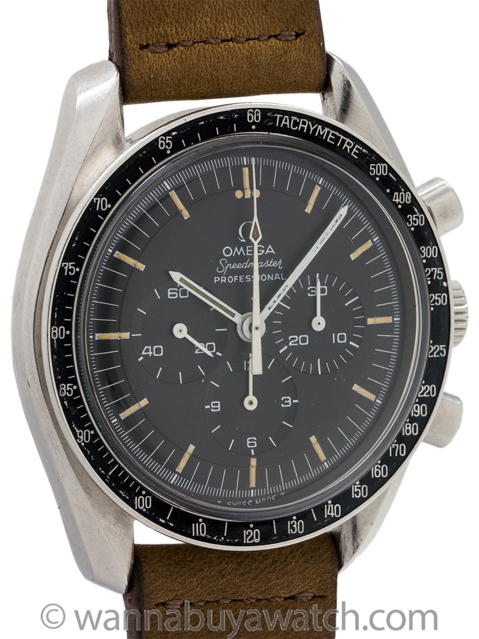 Omega Speedmaster Pre Moon With Ultra Rare 220 Bezel ref 145.022-69 circa 1969