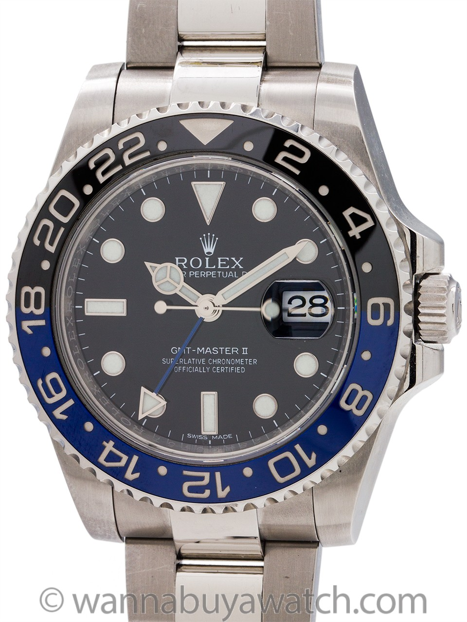 "Rolex SS GMT-Master II ref 116710 BLNR circa 2015 ""Batman"" Box & Papers"