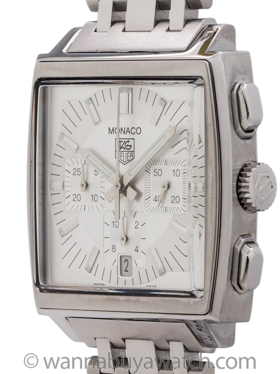 Tag Heuer Monaco Chronograph Re-issue Reference CW2112