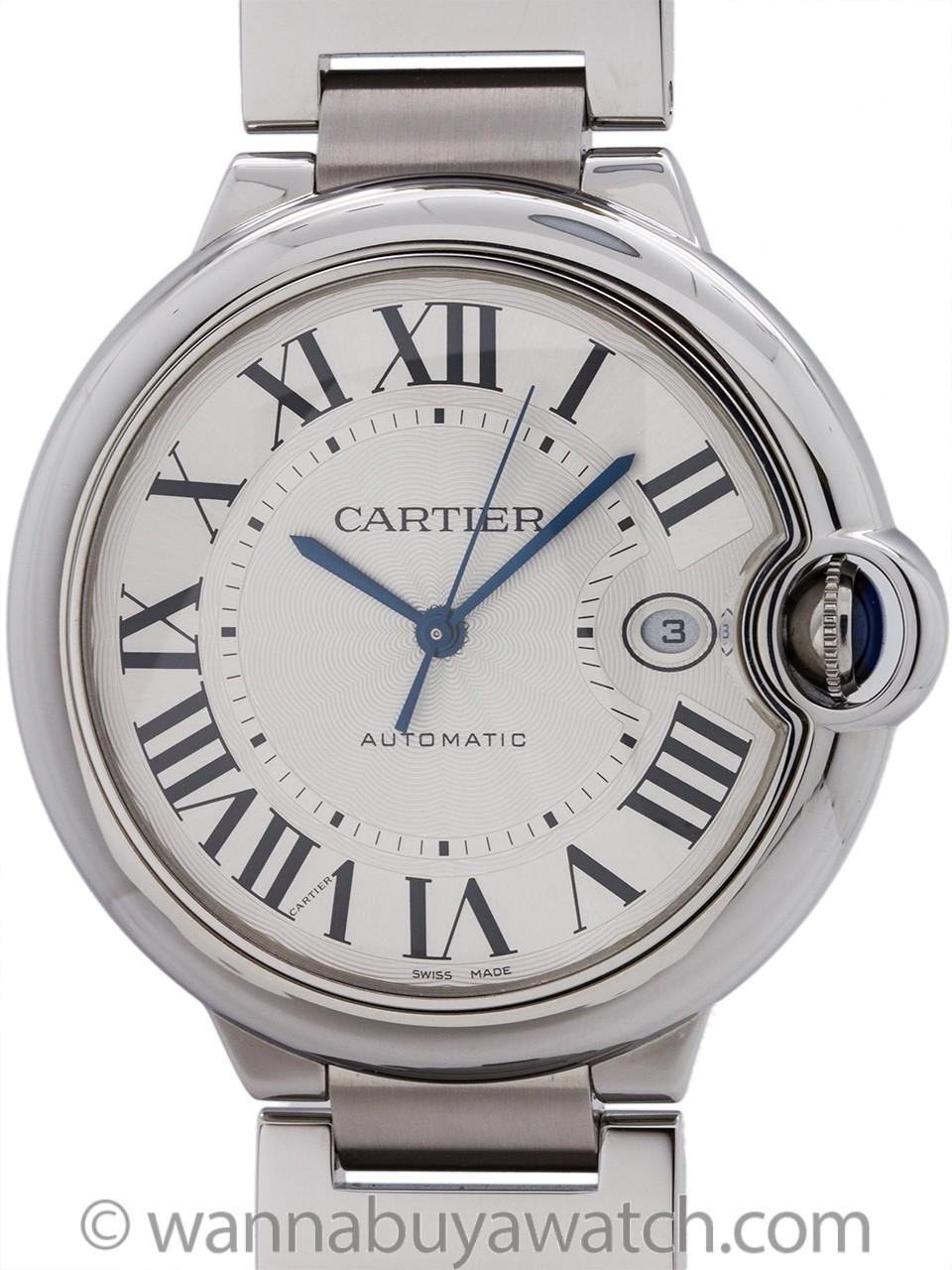 Cartier Ballon Bleu Stainless Steel Man's 42mm circa 2000s