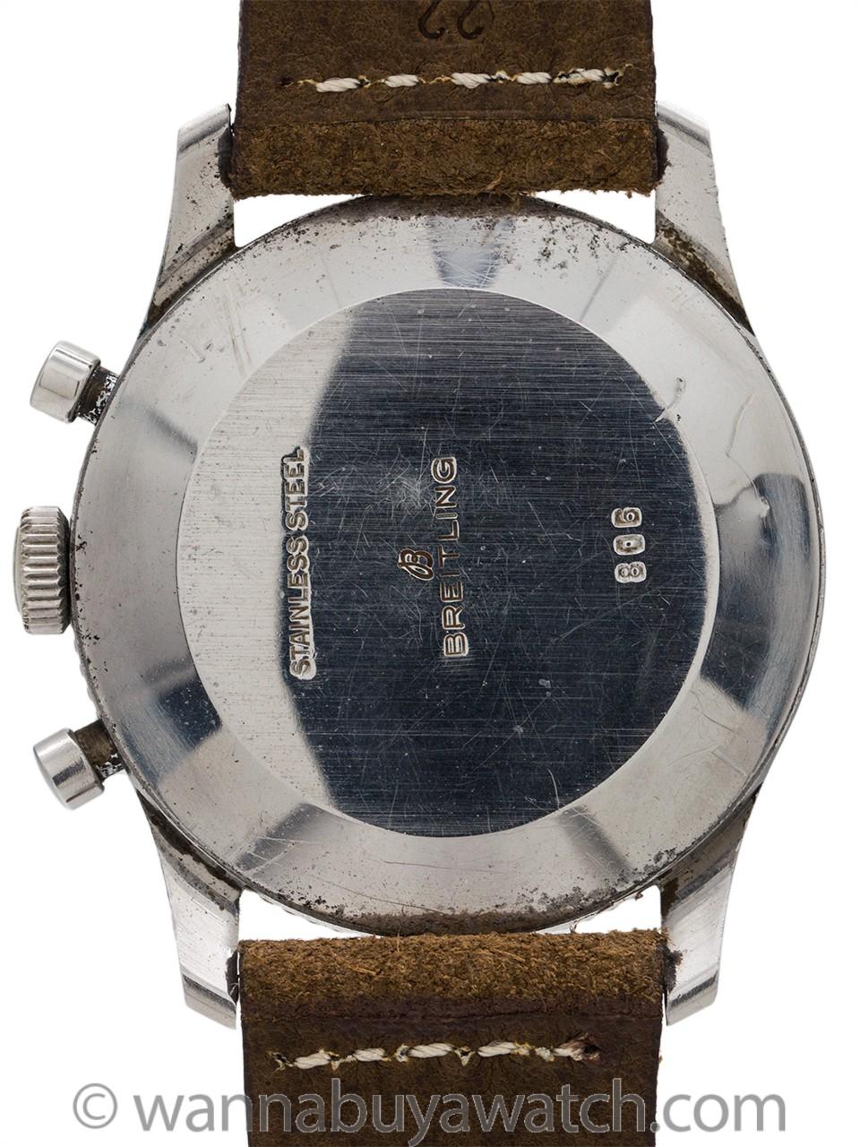 Breitling Navitimer ref 806 AOPA Beaded Bezel Black Registers circa 1960's