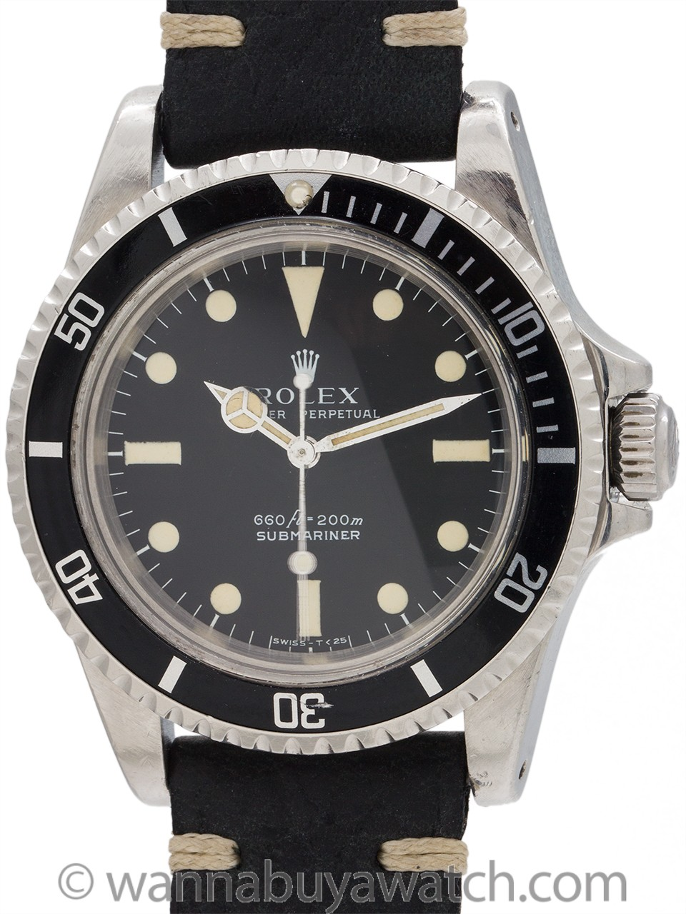 "Rolex Submariner ref 5513 Stainless Steel ""Serif"" circa 1978"