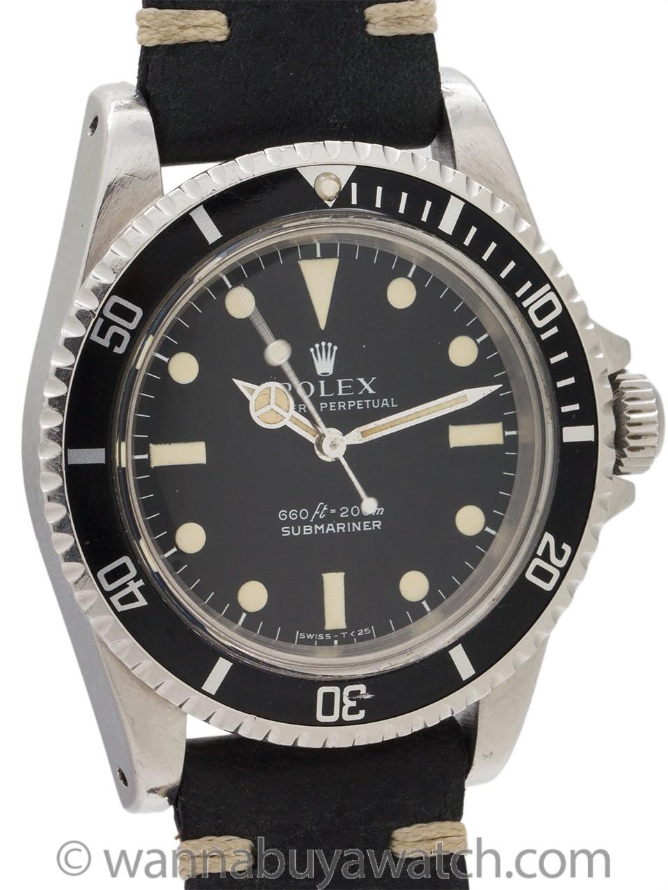 """Rolex Submariner ref 5513 Stainless Steel """"Serif"""" circa 1978"""