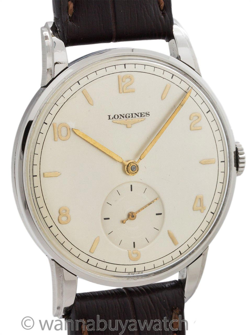 Longines Stainless Steel Dress Model circa 1950's