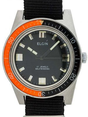 Elgin Diver's Automatic Bakelite Bezel circa 1960's