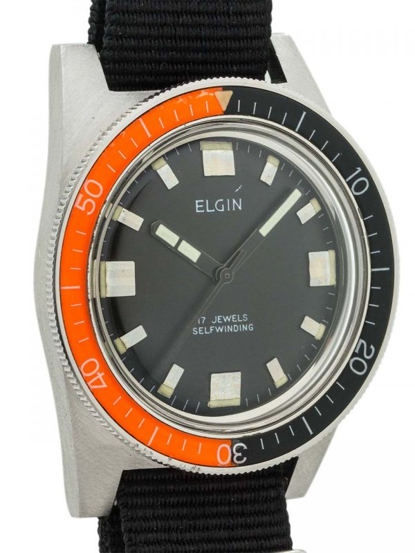 Elgin Diver's Automatic Bakelite Bezel circa 1960's MINT!