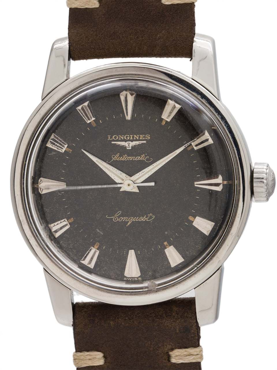 Longines Conquest Tropical Gilt Dial circa 1957