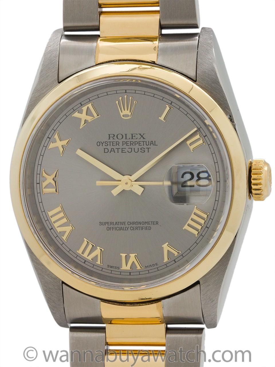 Rolex Stainless Steel & 18K Datejust ref 16203 circa 1998