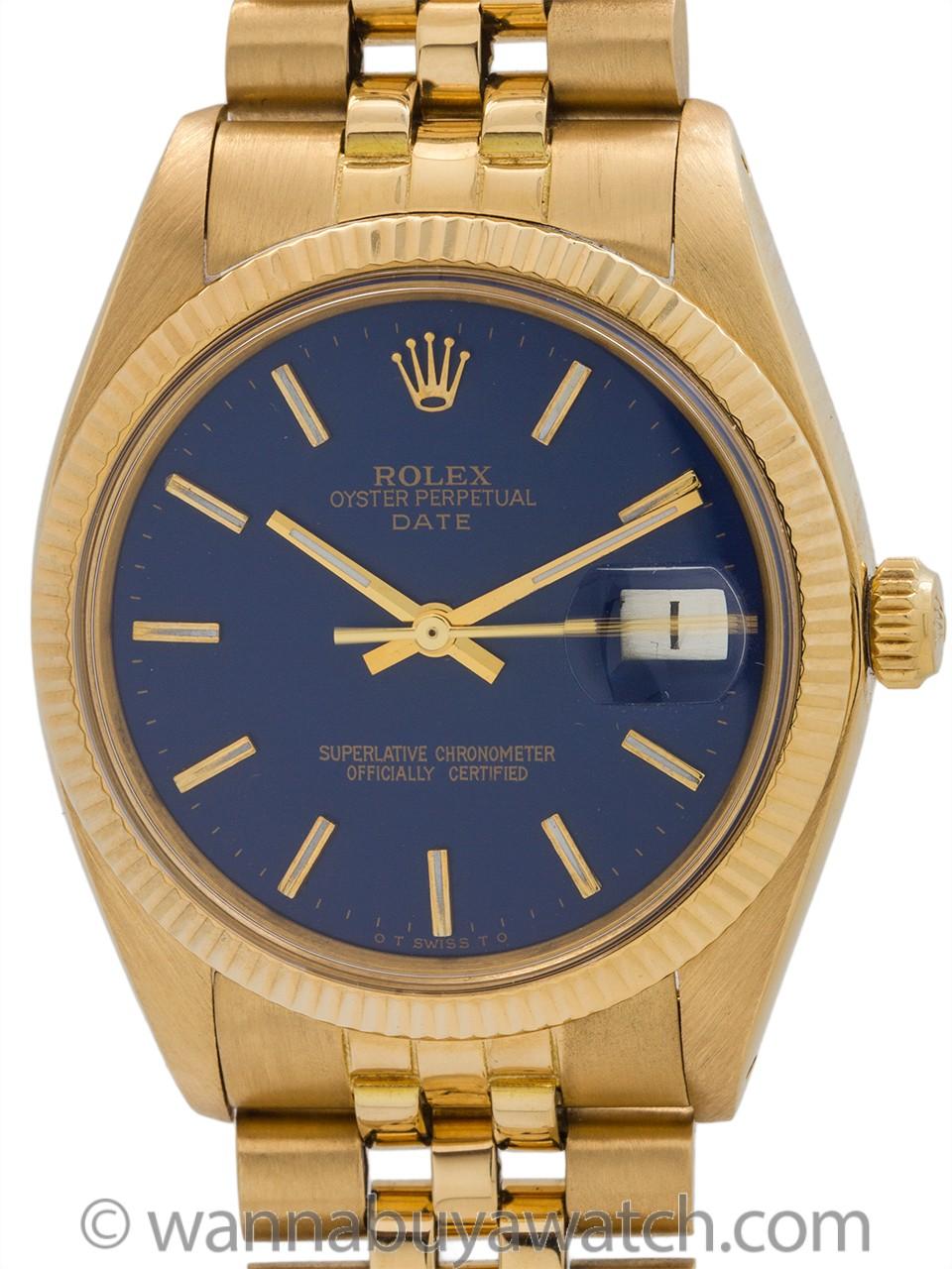 Rolex Oyster Perpetual Date ref 15037 18K YG circa 1980