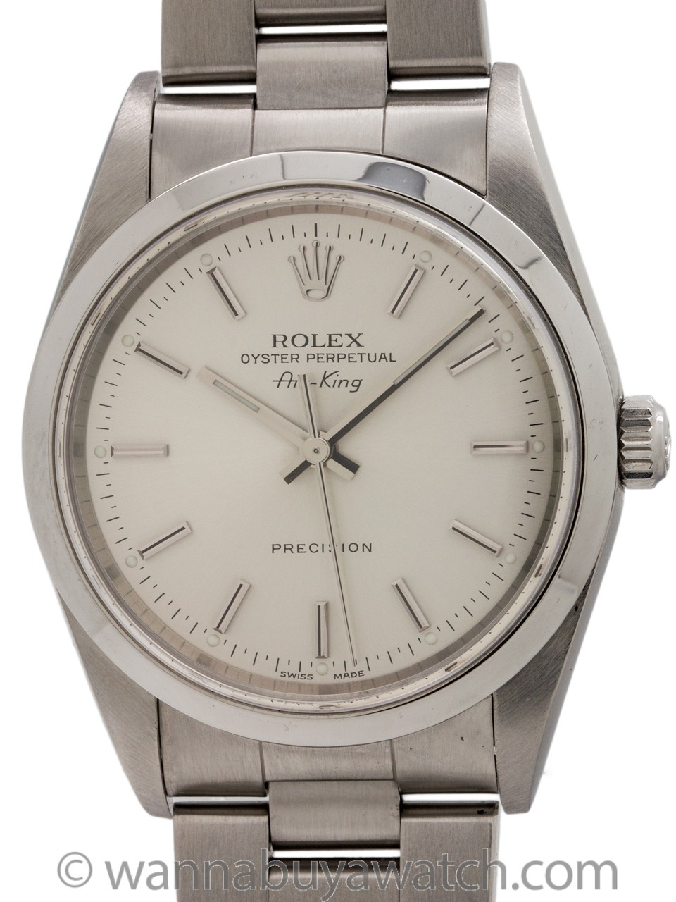 Rolex Oyster Perpetual Airking ref 14000 Silver Dial circa 2002