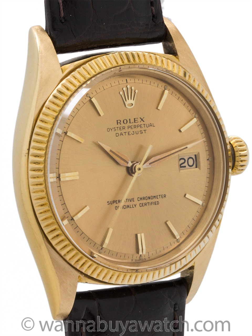 Rolex 18K Yellow Gold Datejust ref 1601 circa 1961