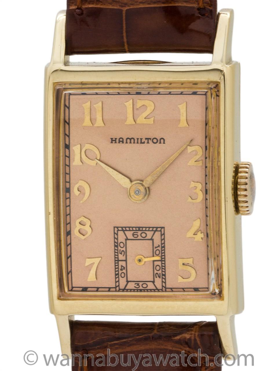 """Hamilton """"Brock"""" 14K YG circa 1940's"""