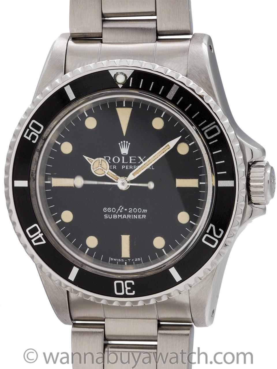 """Rolex Submariner ref 5513 """"Serif"""" Dial circa 1977"""