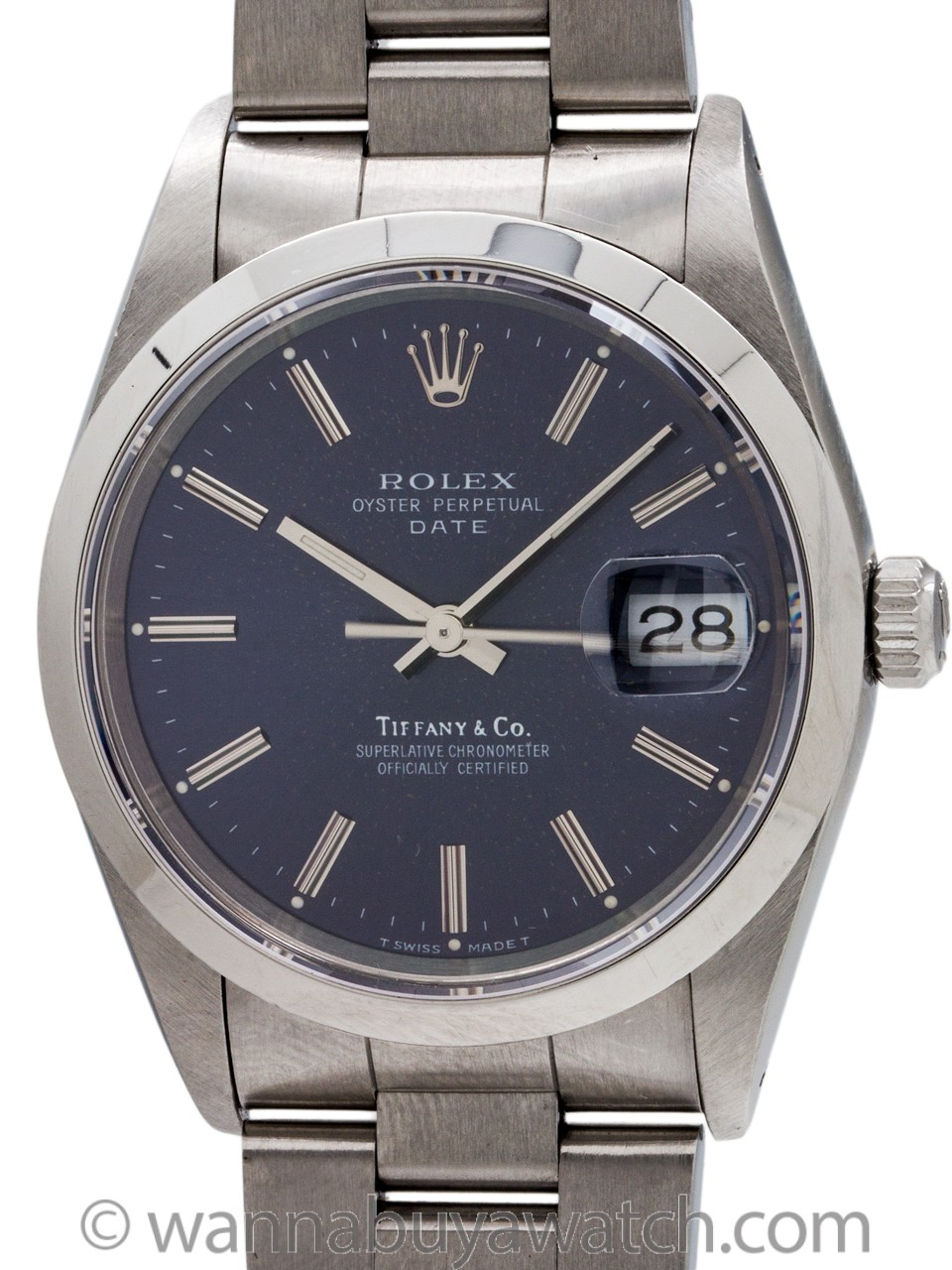 Rolex Oyster Perpetual Date ref 15200 Tiffany & Co circa 1990