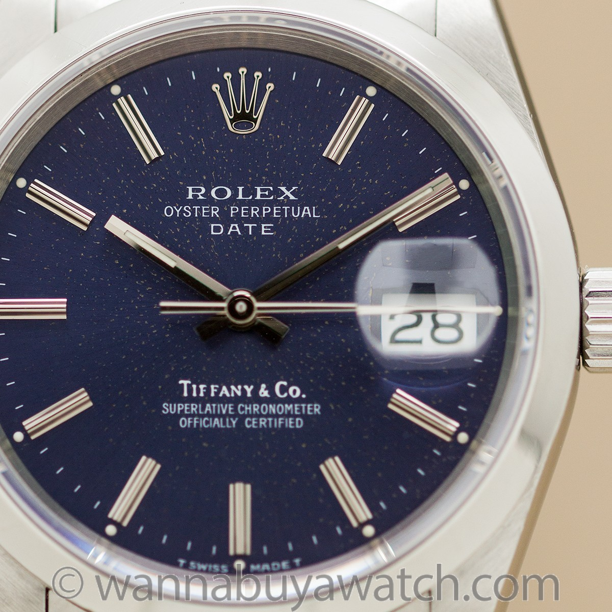 Rolex Oyster Perpetual Date ref 15200 Tiffany & Co circa 1990