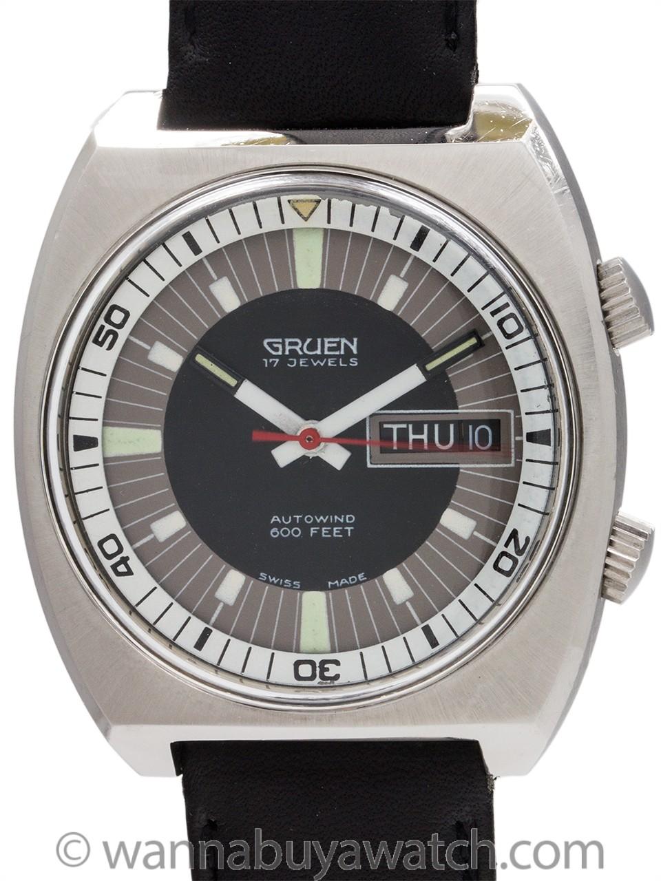 Gruen Automatic Diver Day-Date circa 1970's