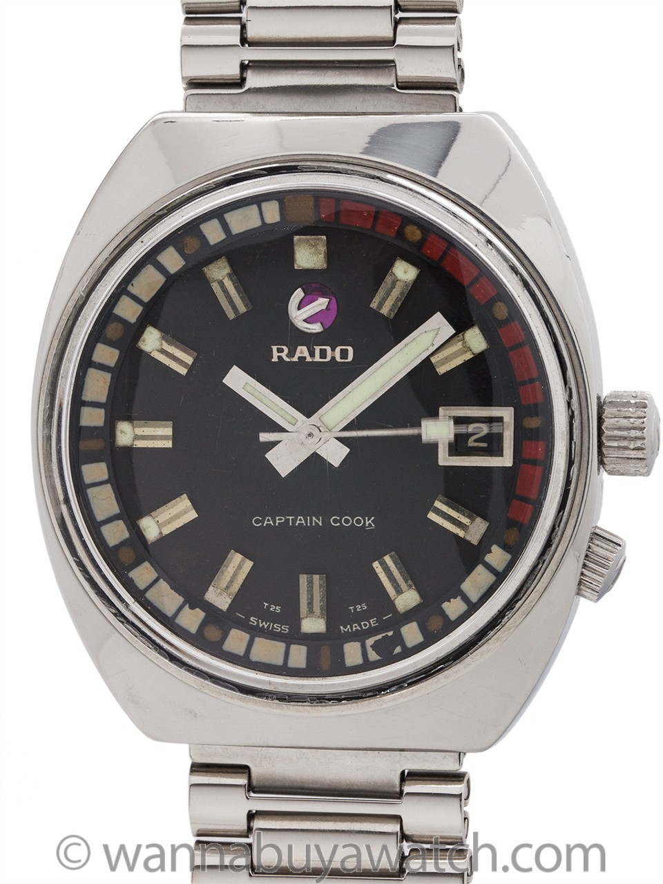 "Rado ""Captain Cook"" Stainless Steel circa 1970's"