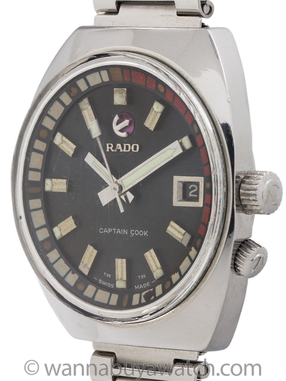 "Rado ""Captain Cook"" Stainless Steel circa 1970's"