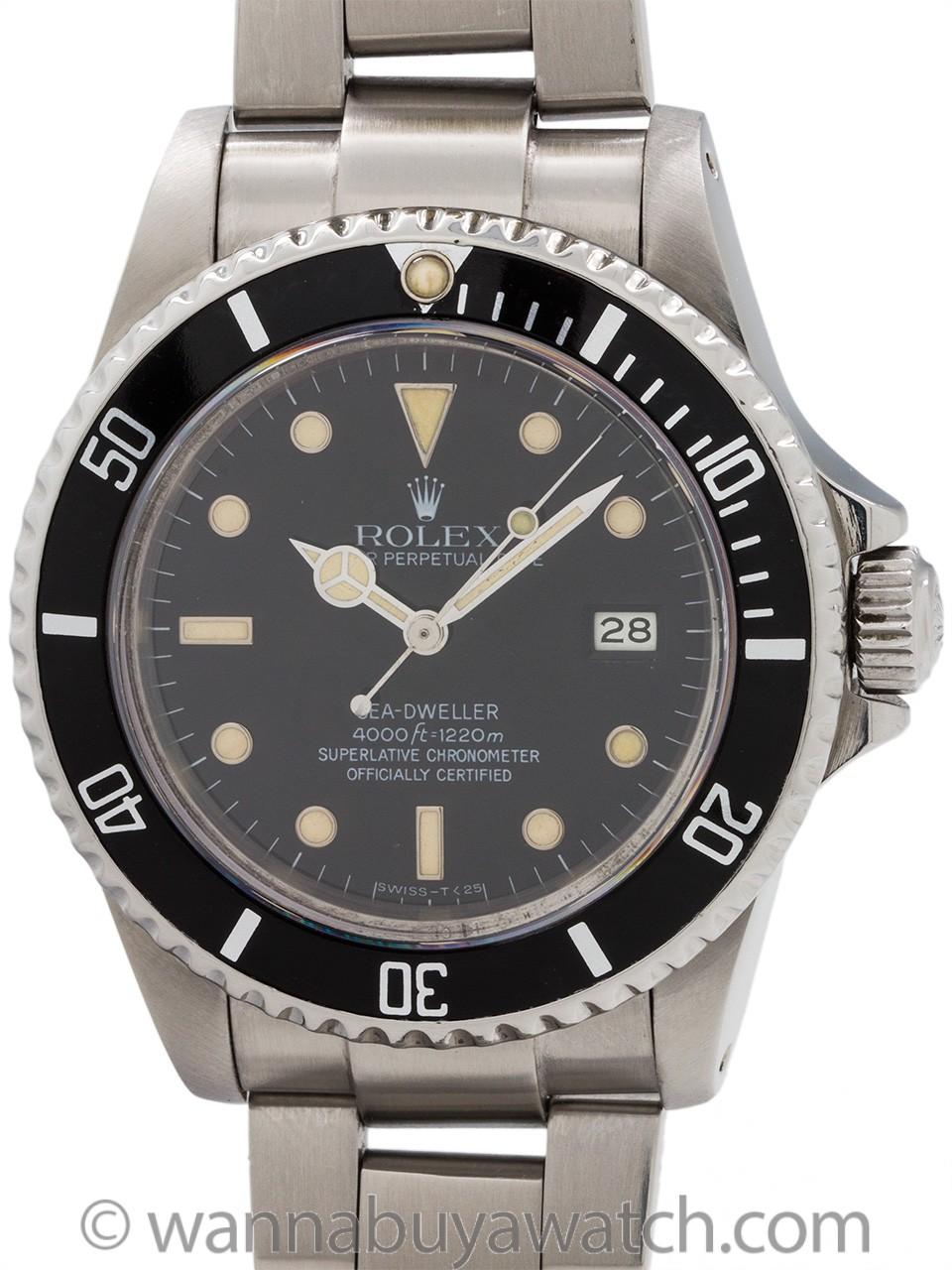 Rolex Seadweller ref 16660 Transitional circa 1984