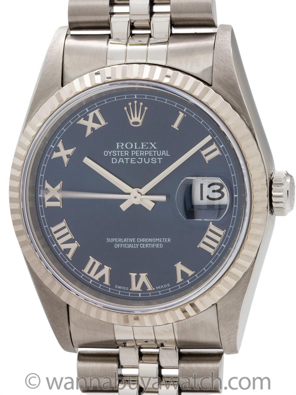 Rolex Datejust ref# 16234 SS/18K WG circa 2000