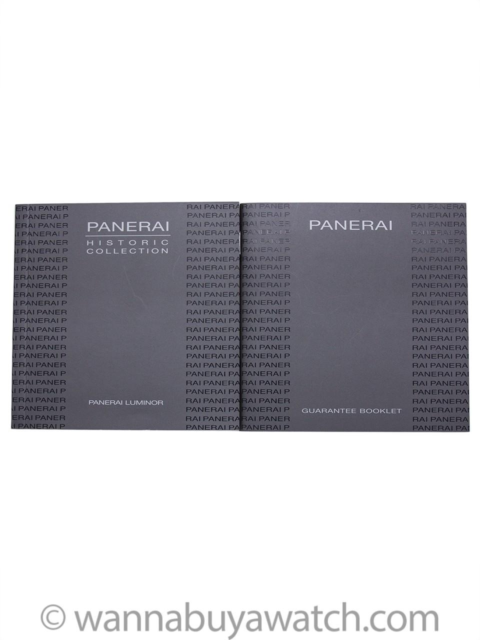 Panerai Luminor Marina PAM113 circa 2008 Box & Booklet