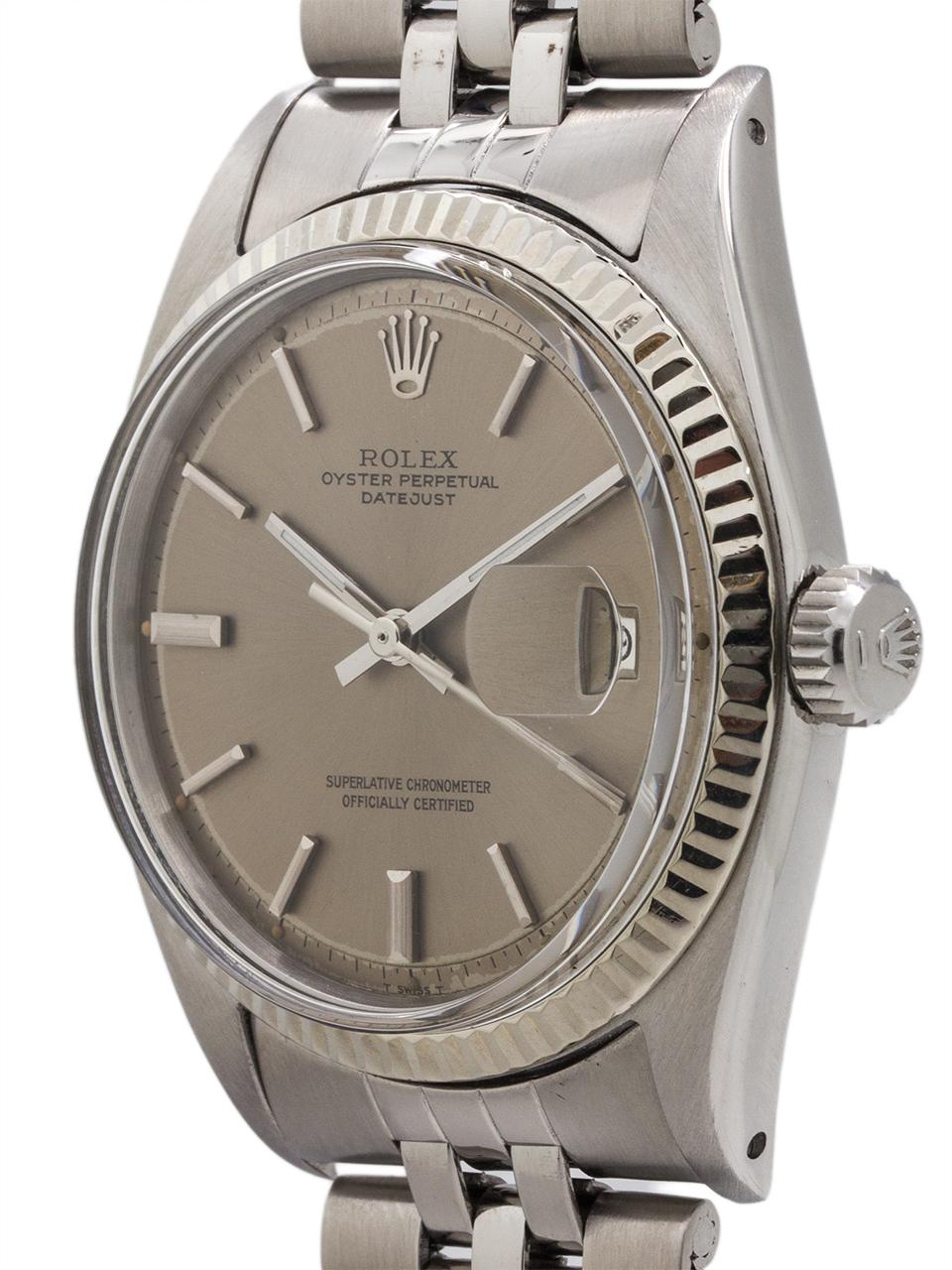 Rolex SS Datejust ref 1601 Steel & 14K WG circa 1968