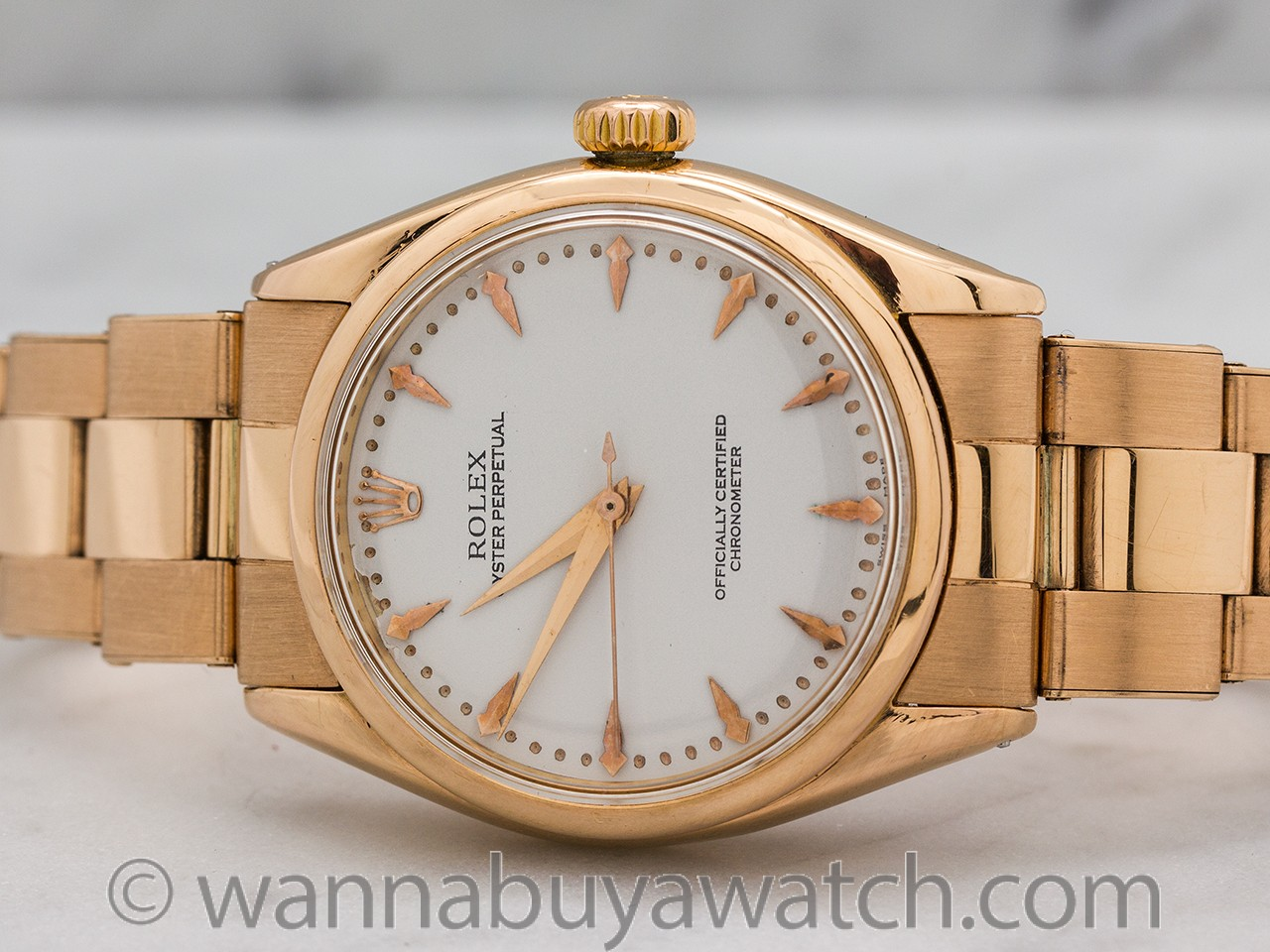 Rolex Oyster Perpetual ref 6284 18K Rose Gold circa 1950's