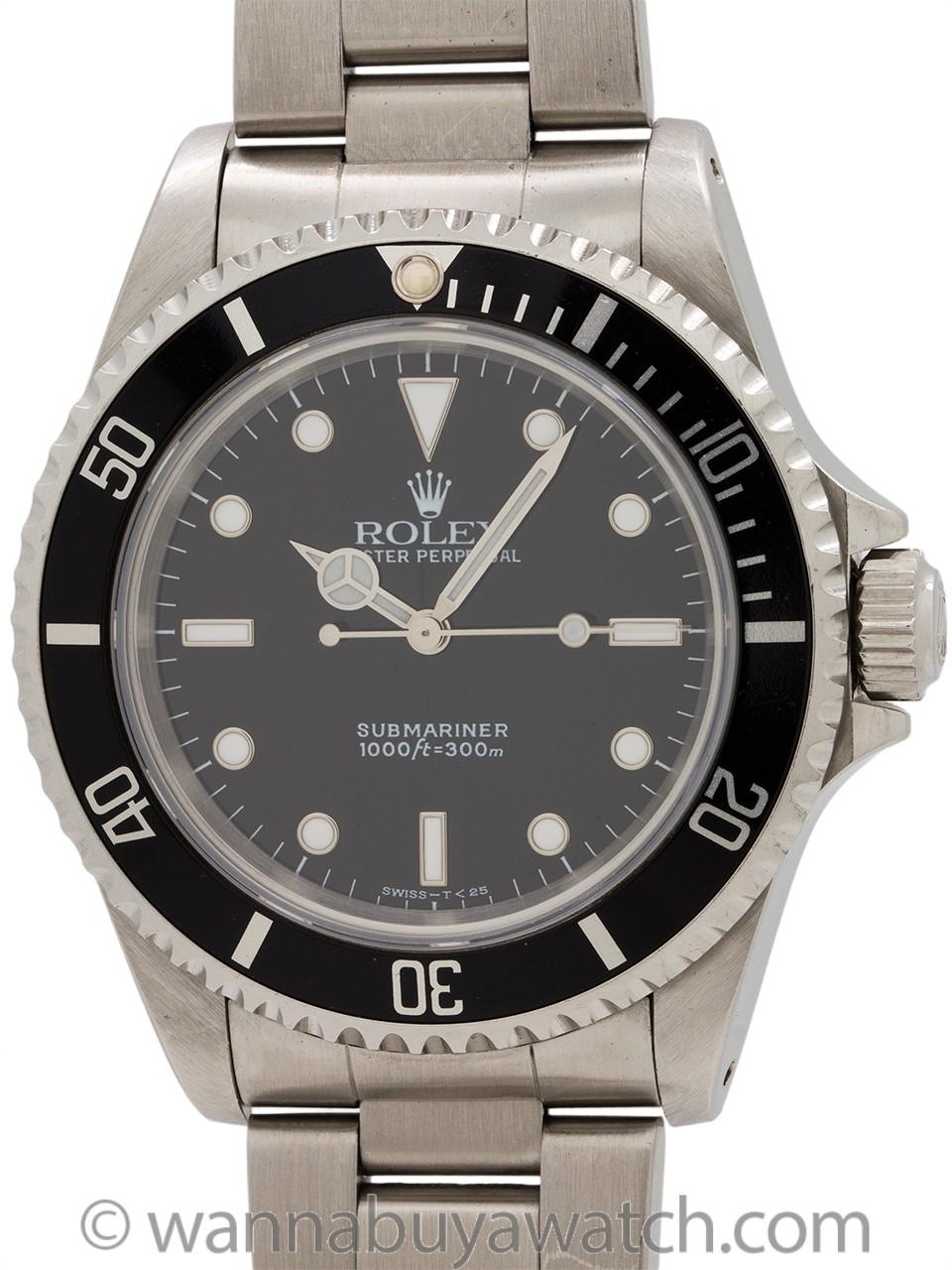Rolex Submariner ref 14060 Tritium circa 1997 B & P