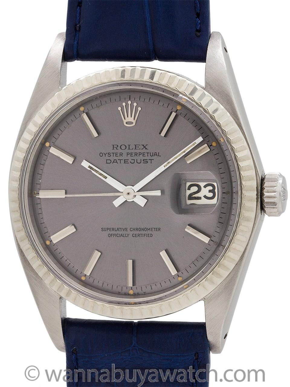 """Rolex Datejust ref 1601 """"Wide Boy"""" circa 1968"""
