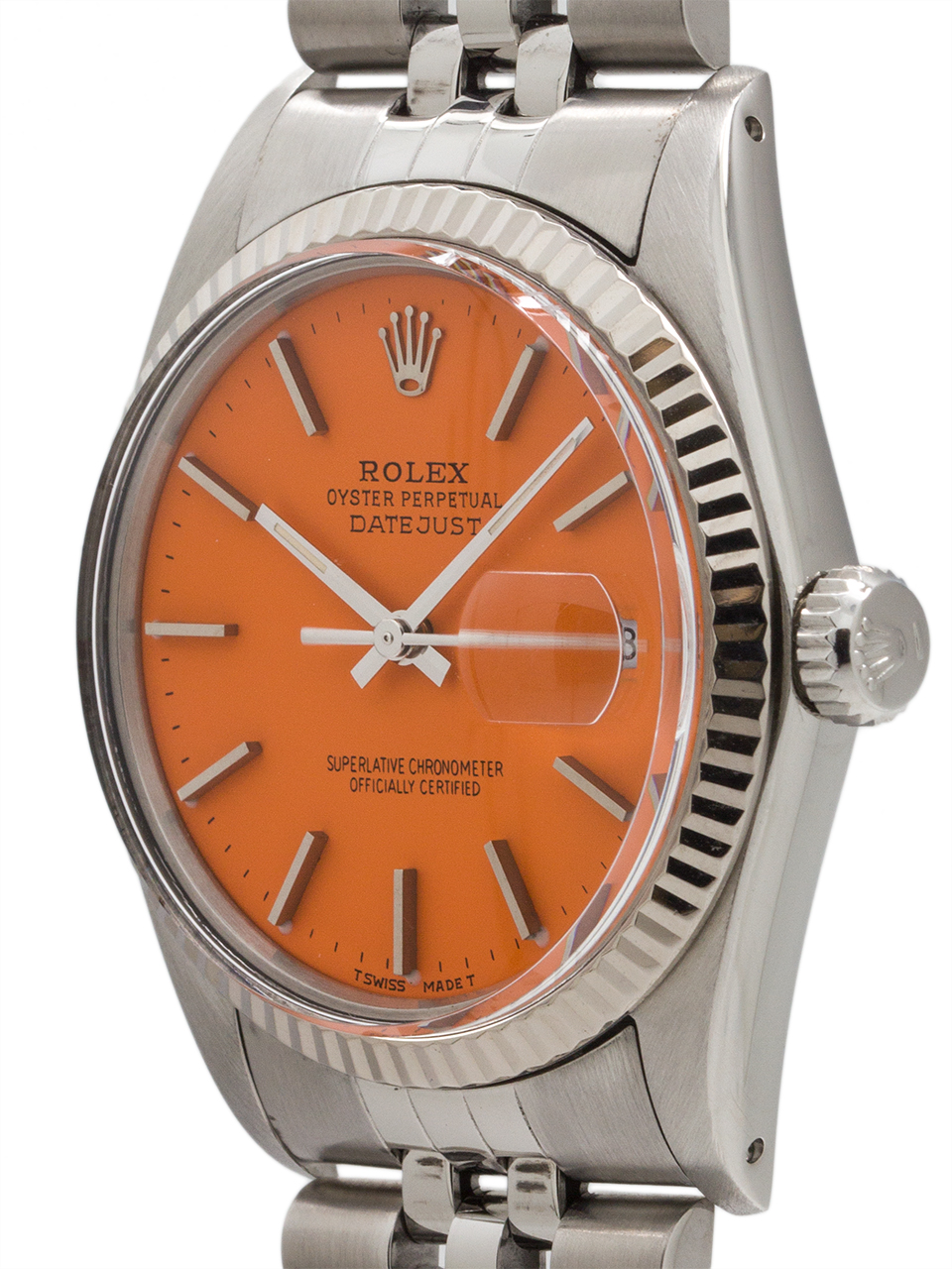 "Rolex Stainless Datejust ref 16014 ""Orange Sherbert"" circa 1985"