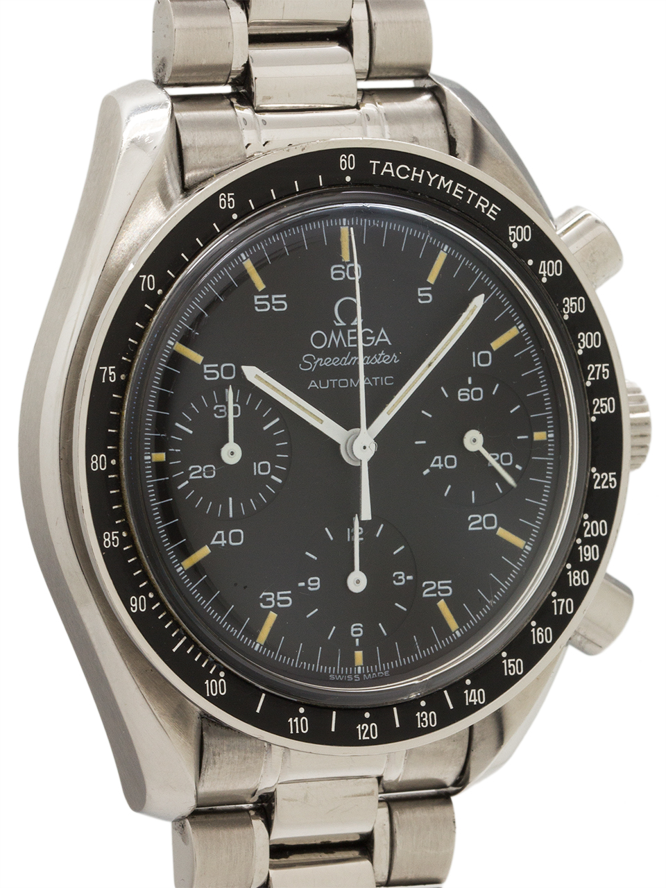 """Omega Speedmaster Automatic """"Reduced"""" ref 3510.50 circa 1997 Tags and Certificate"""