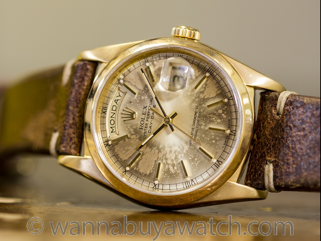 "Rolex ref 18038 ""Dirty Day Date"" 18K YG circa 1990"
