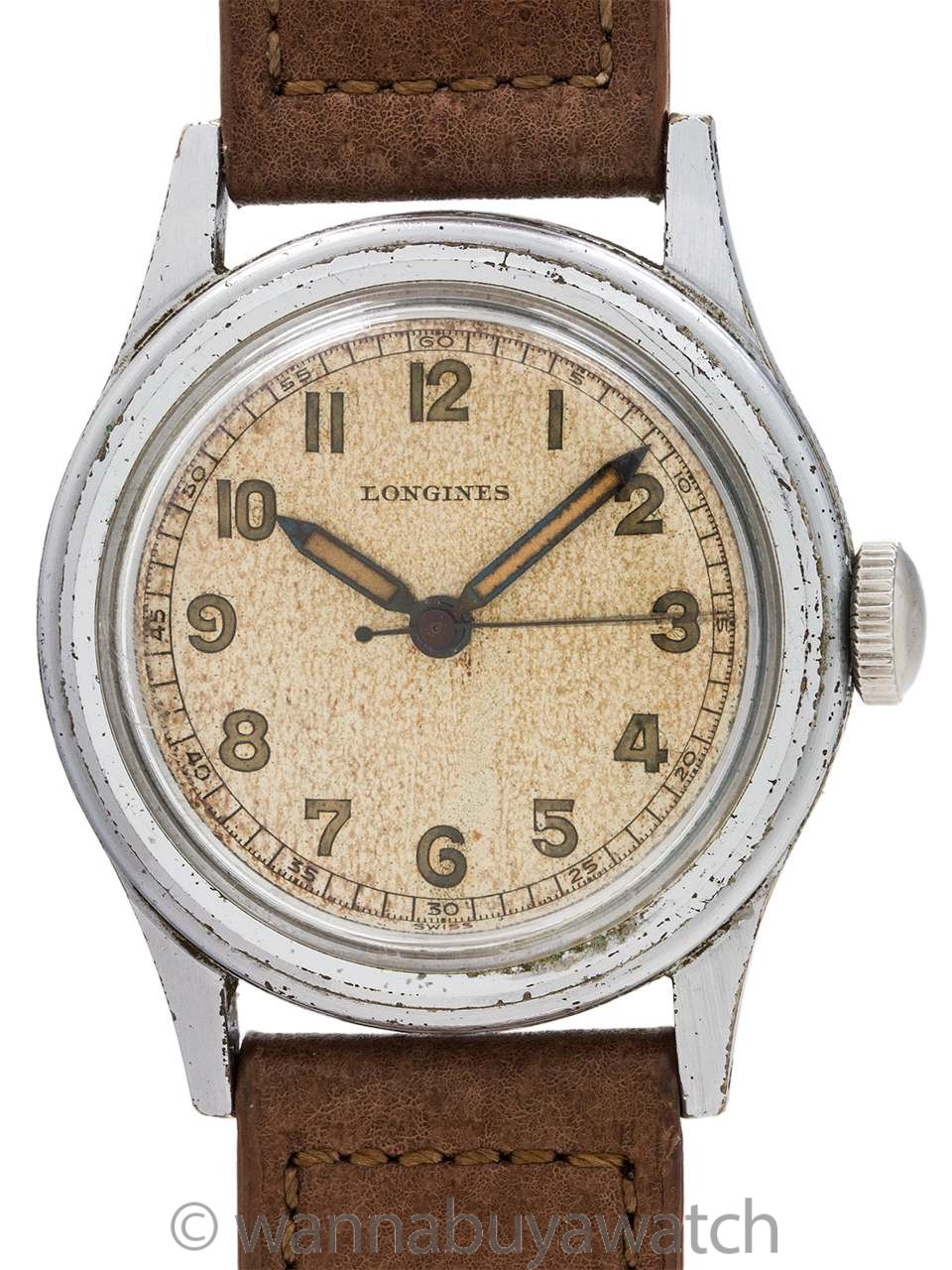 Longines Manual Wind USN Buships circa 1940's