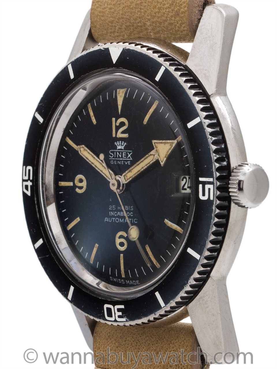 Sinex Diver Automatic Stainless Steel circa 1960's