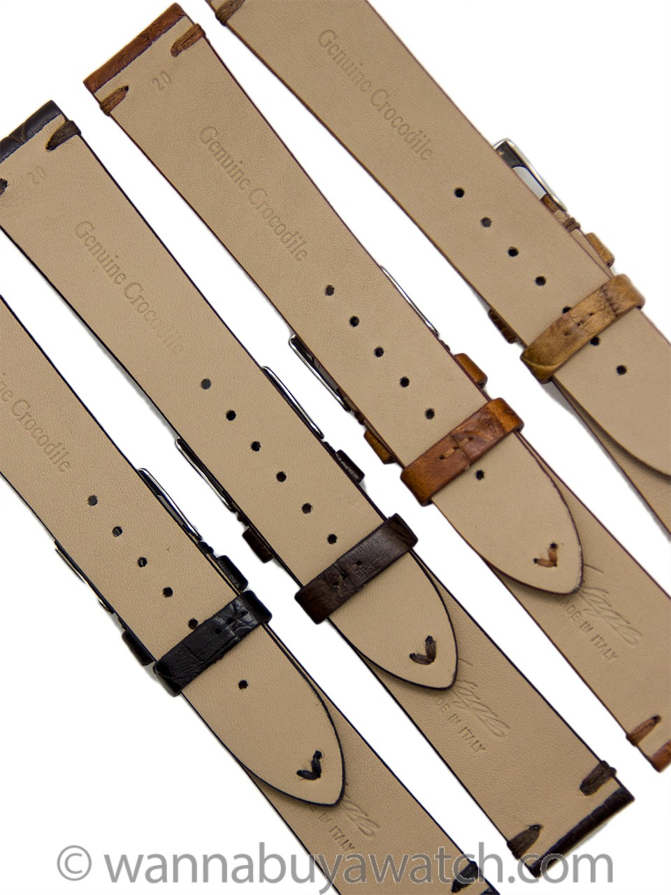 Luxury Crocodile Strap Rich Subtle Tones 20mm