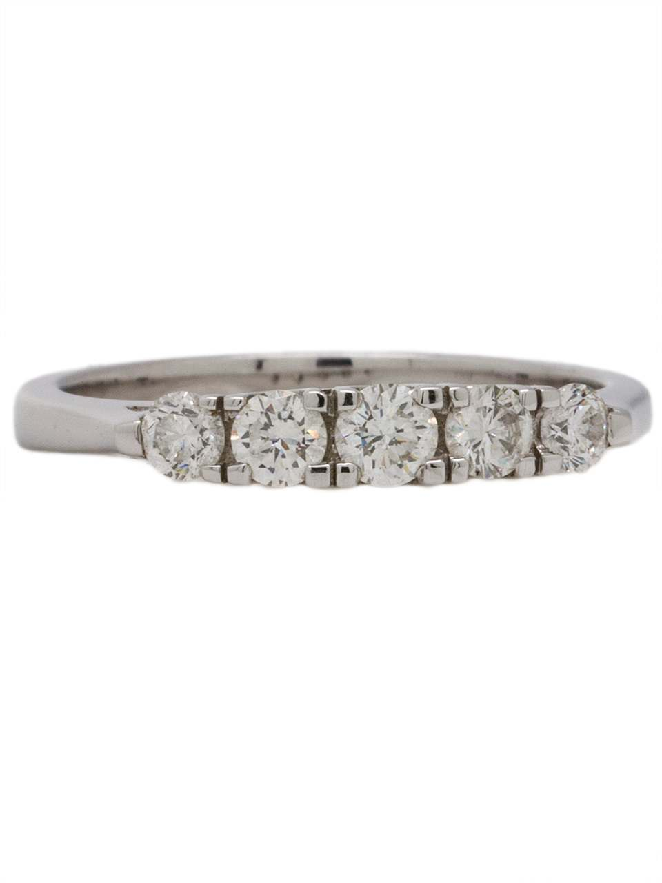 18K White Gold Five Stone Diamond Band 0.50ct circa 2000s
