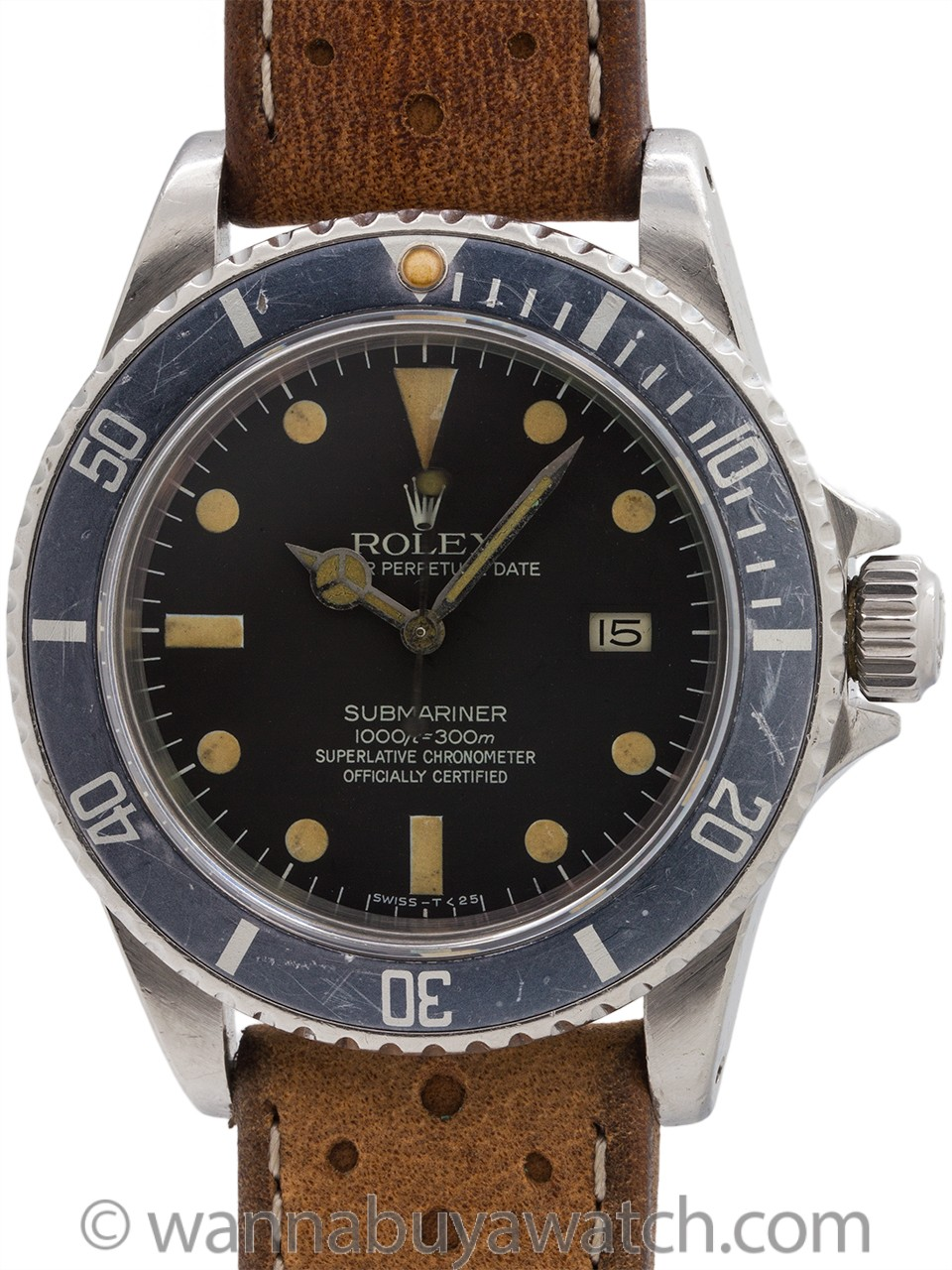Rolex Submariner ref 16800 Transitional MK III Dial circa 1981