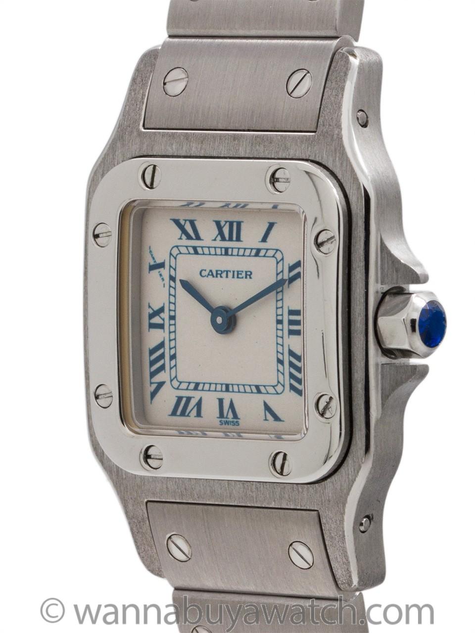 "Cartier Ladies Santos ""Blue"" circa 2000s"