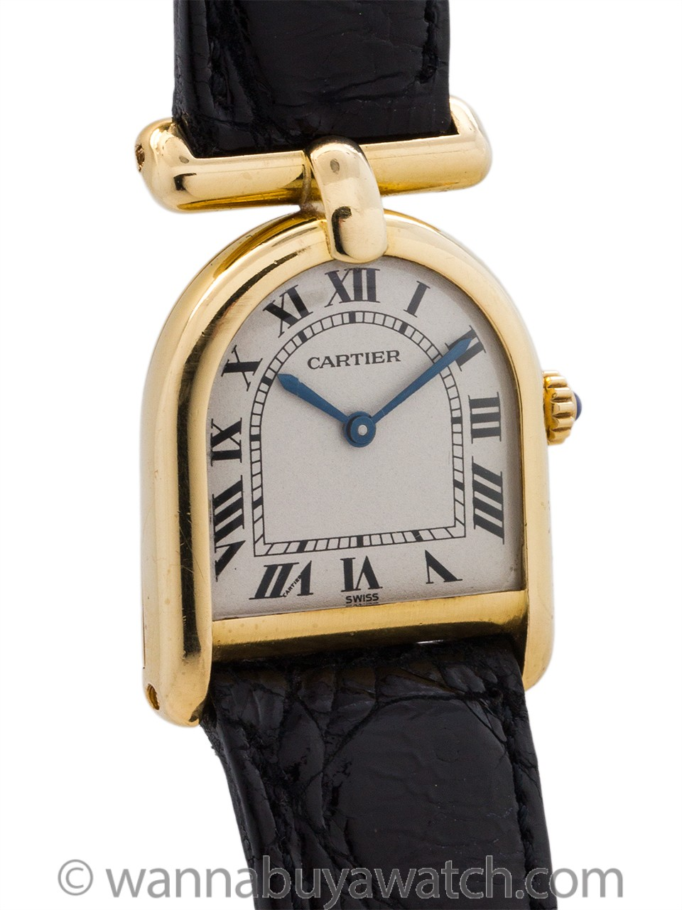 "Cartier 18K YG Lady ""Cloche"" circa 1990's with Box"