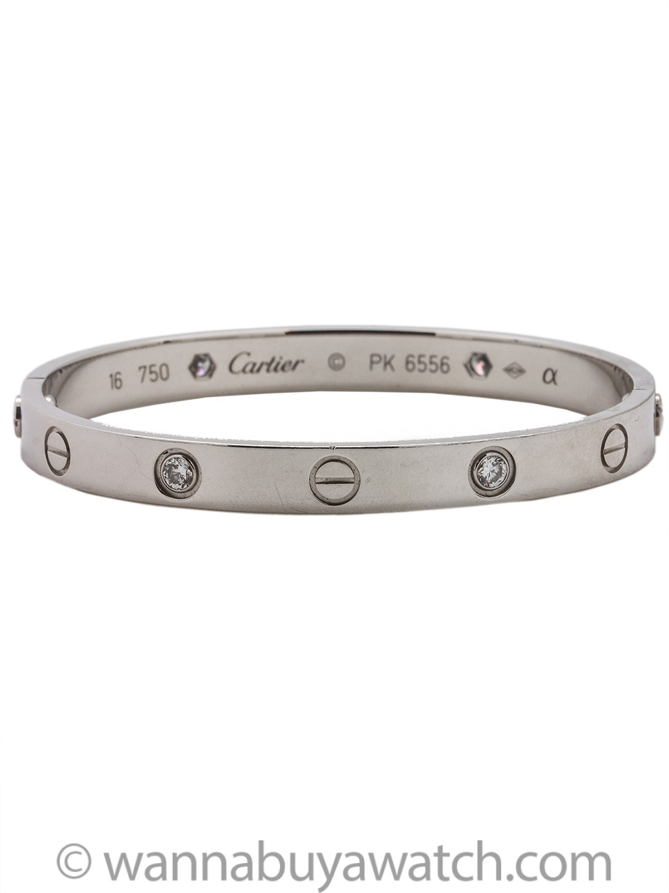 Cartier Diamond Love Bracelet 18K White Gold size 16