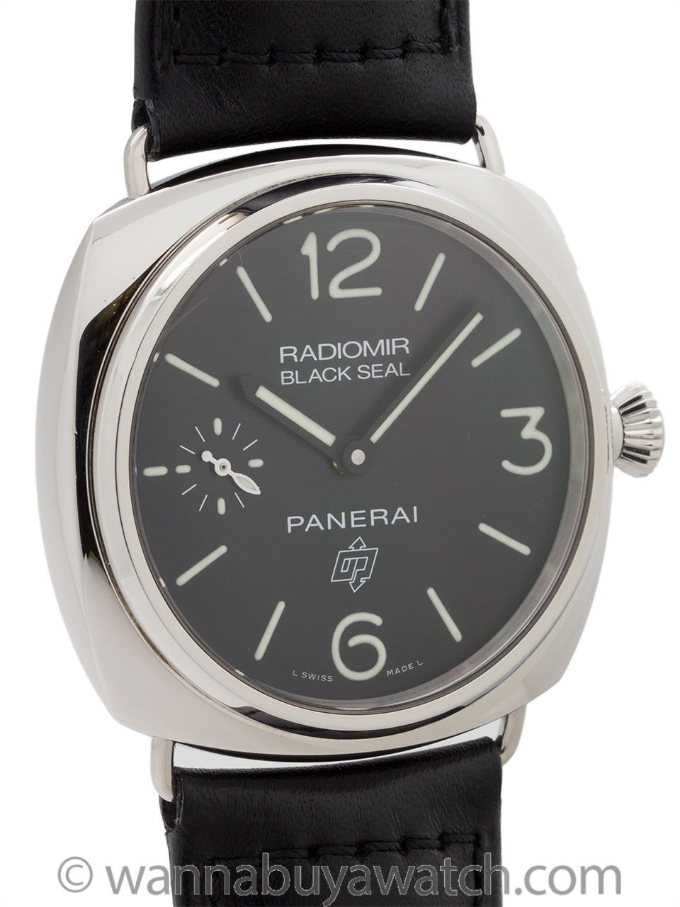 "Panerai Black Seal PAM 380 ""Logo"" B & P 2012 Mint!"