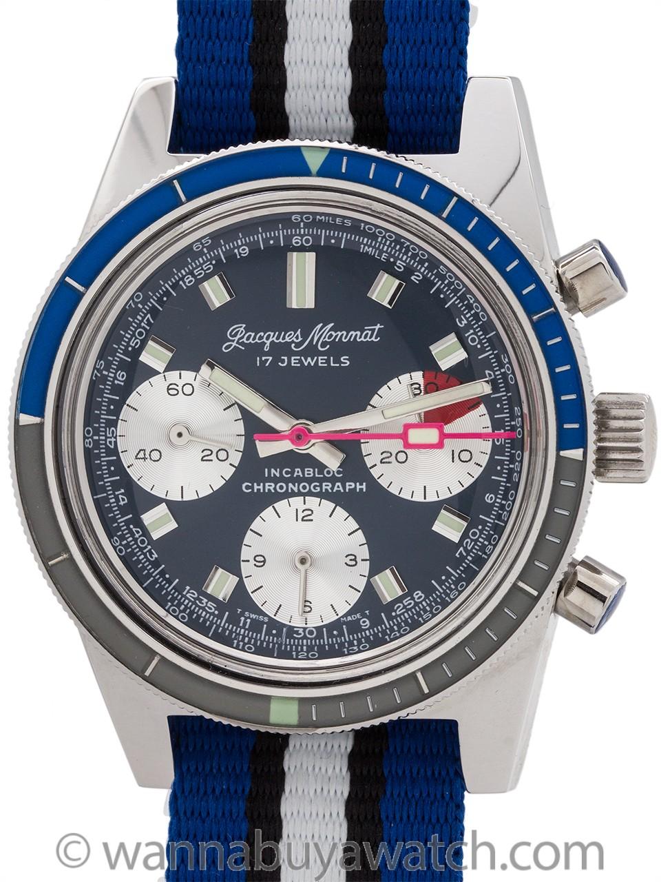 Jacques Monnat Chronograph Valjoux 7733 circa 1960s