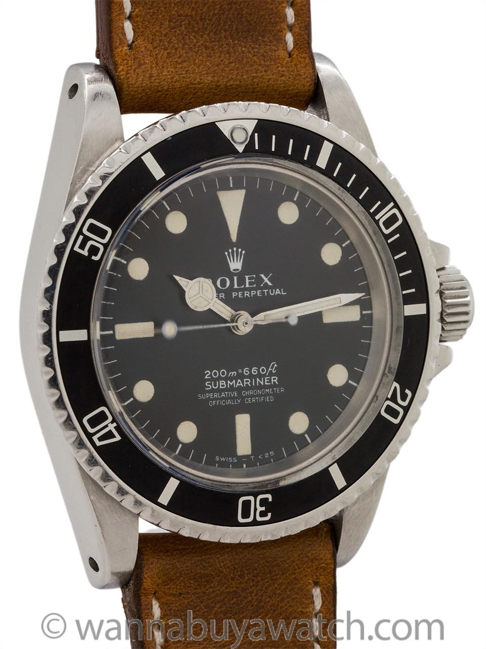 Rolex Submariner ref 5512 Meters First circa 1969