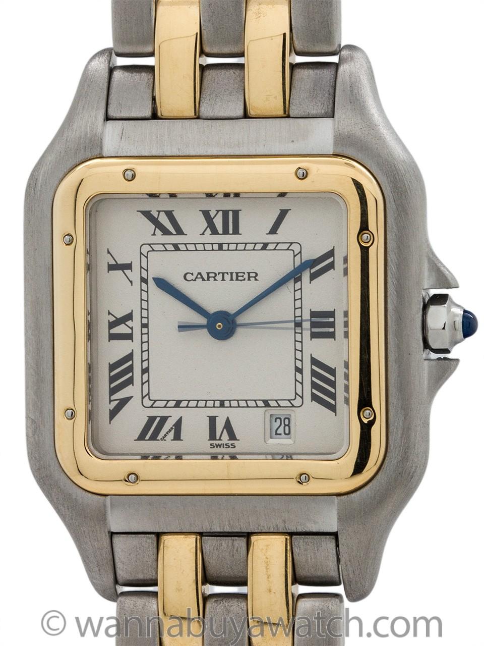 Cartier Man's Panther SS/18K YG circa 1980's