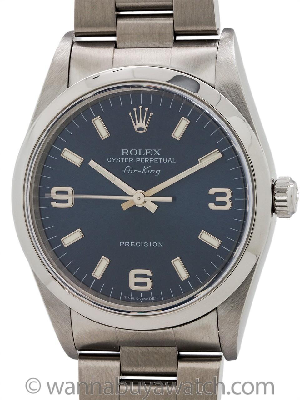 Rolex Airking ref 14000 Blue Explorer Dial circa 2003
